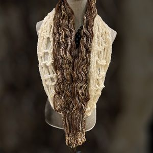 Beige Infinity And Brown/Gold Scarves